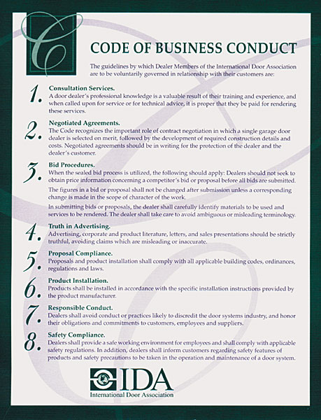 IDA Code of Business Conduct
